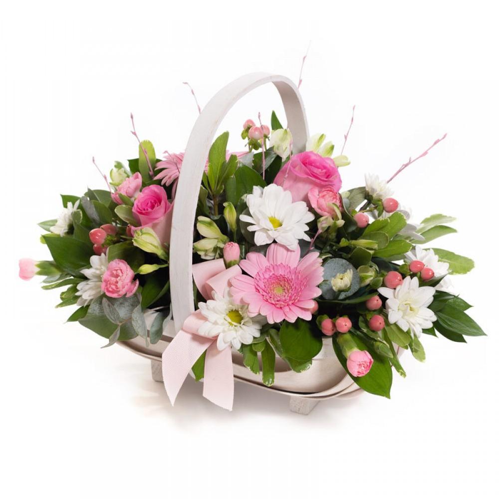 Baby Girl Pink Basket